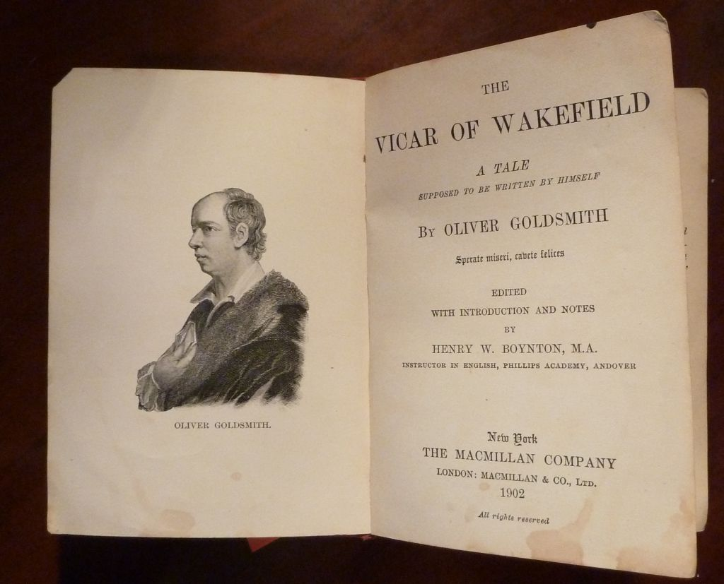 the vicar of the wakefield Directed by ernest c warde with frederick warde, boyd marshall, kathryn adams, gladys leslie dr primrose, the vicar of wakefield, enjoys life with his wife and.