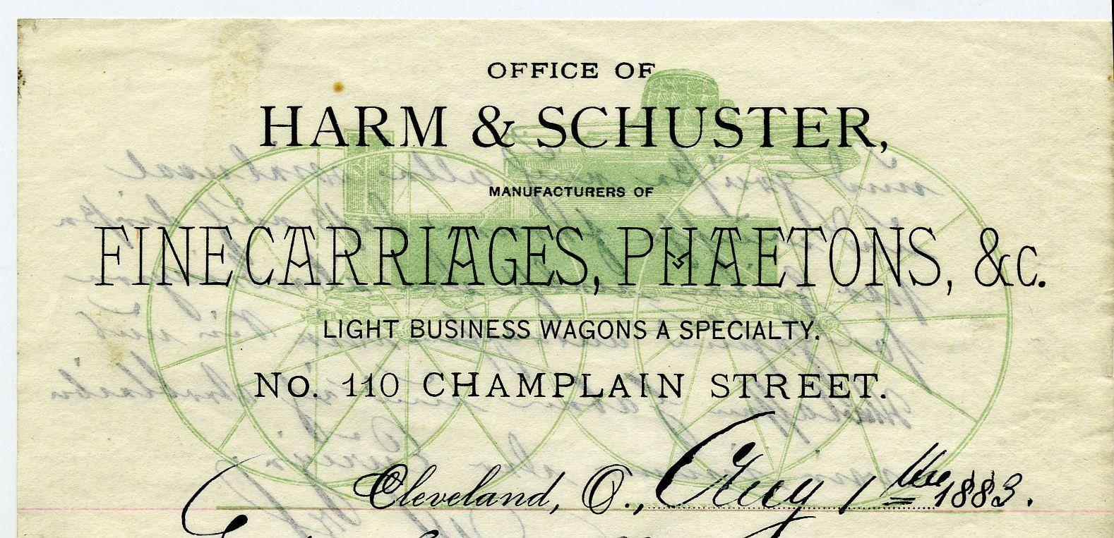 Harm & Schuster letterhead