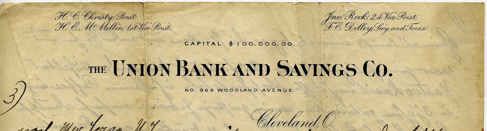 Union Bank and Savings, Cleveland, Ohio