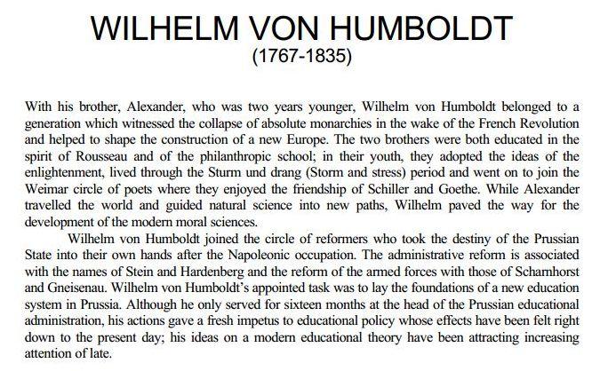 wilhelm and alexander von humboldt