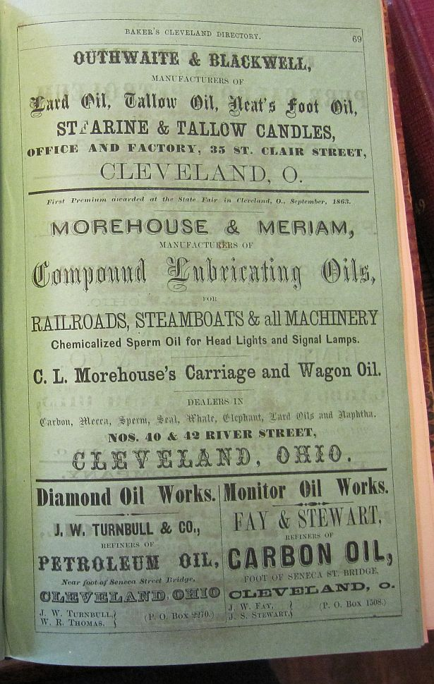 1864 Baker's Directory, Cleveland