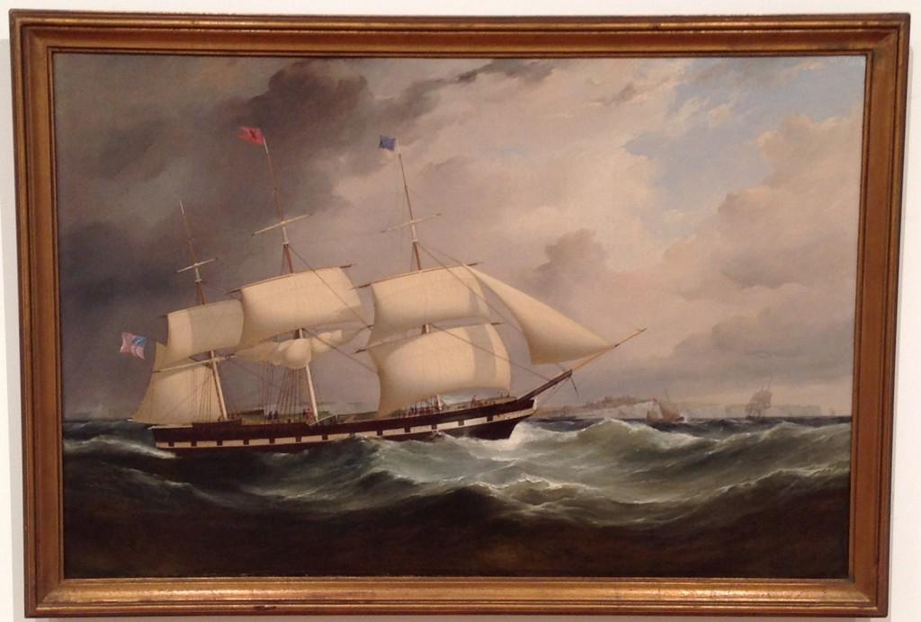 """Margaret Evans"" Black X Line circa 1850"