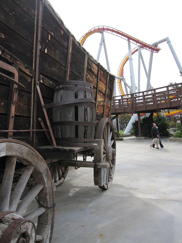 Enormous conestoga wagon