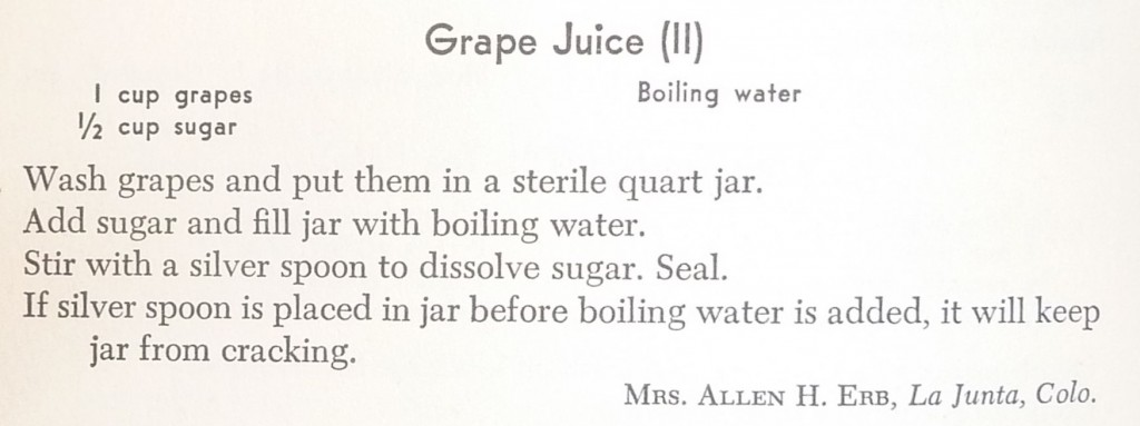 recipe mennonite grape juice