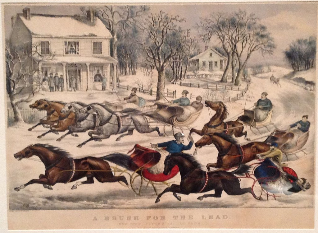 Currier and Ives New York Flyers on the snow