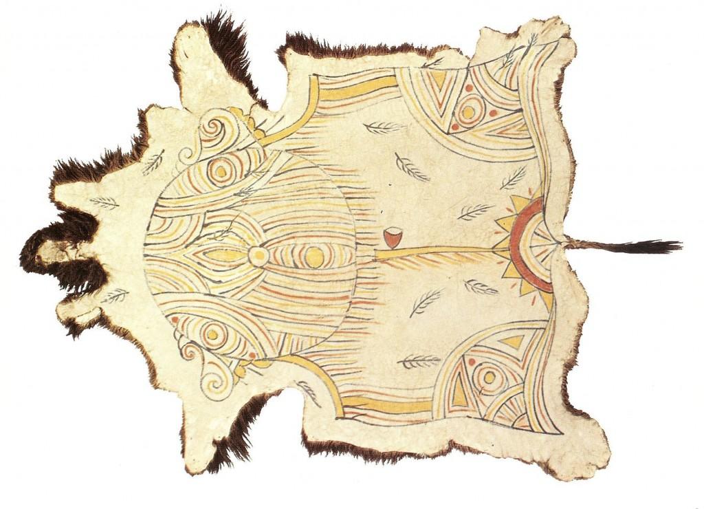 Ojibwa Buffalo Robe circa late 1800s