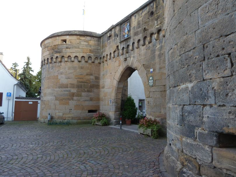 "Freinsheim's ""Eisentor,"" the old main gate"