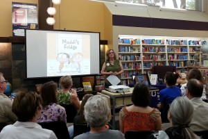 "Lois Brandt launches her book ""Maddie's Fridge"" at Bellevue Bookstore in September."