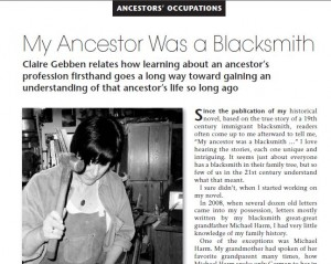 ancestor was a blacksmith