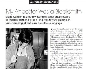 ancestor was a blacksmith