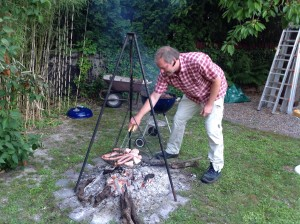 Matthias at the barbecue